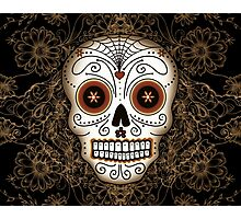 Vintage Sugar Skull Photographic Print