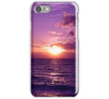 Violet Sunset over Sea iPhone Case/Skin