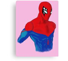 Spider-Man Alternative Suit Design Bust (Pink) Canvas Print