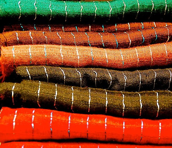 Colorful Fabrics by stephen Spindler