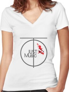 Just Music - Ripple Effect Style Women's Fitted V-Neck T-Shirt