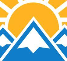 Mountains sun Sticker