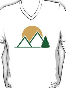 Mountains tree sun T-Shirt