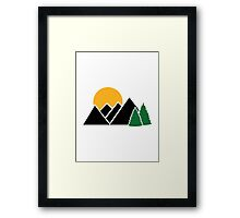 Mountains trees Framed Print