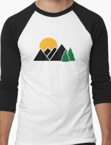 Mountains trees Men's Baseball ¾ T-Shirt