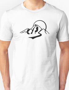 Mountains moon Unisex T-Shirt