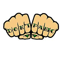 Don't Panic Fist Tattoos Photographic Print