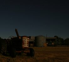 Star Trails Tractor by Mathew Russell