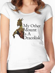 DA:I Dracolisk Mount Women's Fitted Scoop T-Shirt