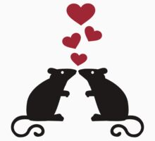 Mice mouse hearts love Baby Tee