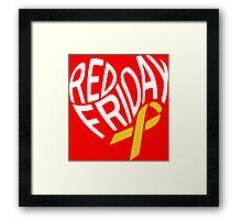 Red Friday Framed Print