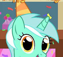 Lyra Heartstrings Birthday Card - Postcard My Little Pony by FalakTheWolf