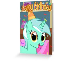 Lyra Heartstrings Birthday Card - Postcard My Little Pony Greeting Card