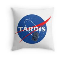 Nasa Tardis Throw Pillow