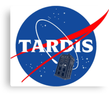 Nasa Tardis Canvas Print
