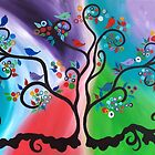 Tree with Birds  by jansimpressions