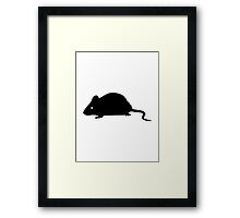Black mouse Framed Print