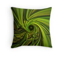 Green Hypno Throw Pillow
