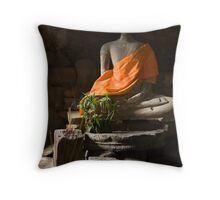 Buddha in Angkor Thom Throw Pillow