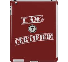I'm Chapter 7 Certified iPad Case/Skin