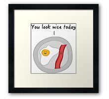 Complimentary Breakfast Framed Print