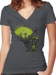 Fantasy Class - Warlock Women's Fitted V-Neck T-Shirt
