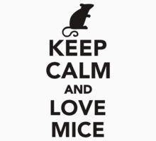 Keep calm and love mice Baby Tee