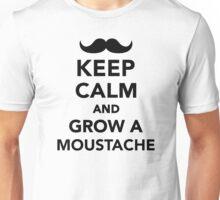 Keep calm and grow a Moustache Unisex T-Shirt