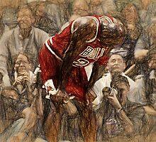 Michael Jordan The Flu Game by John Farr