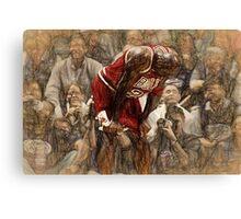 Michael Jordan The Flu Game Canvas Print