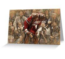 Michael Jordan The Flu Game Greeting Card