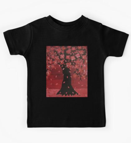 Pink Cherry Blossom Tree Design Art Kids Tee