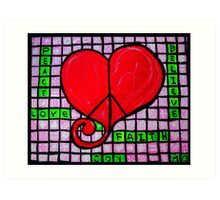 Peace in your Heart Crossword 2015 Art Print