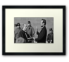 Swearing in ceremony  Framed Print