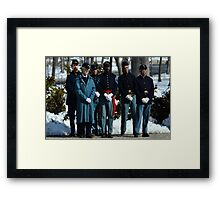 As a nation we shall stand together Framed Print