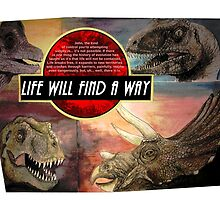 Jurassic Park - Life Will Find A Way by 65MYA