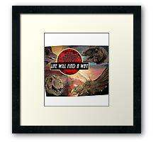 Jurassic Park - Life Will Find A Way Framed Print