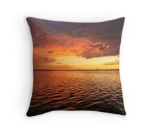sunsets on florida's sea life Throw Pillow