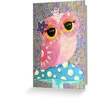 Owl Fairy Princess Greeting Card
