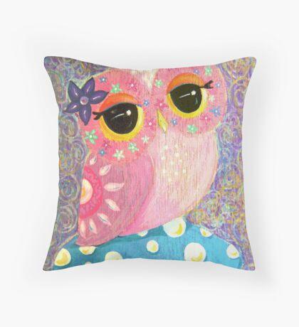 Owl Fairy Princess Throw Pillow