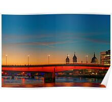 London At Twilight, England Poster