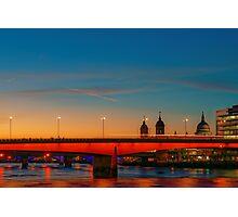 London At Twilight, England Photographic Print
