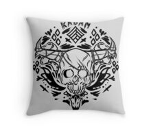 the iron bull romance tattoo  Throw Pillow