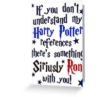 Harry Potter references - light shirt Greeting Card