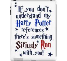 Harry Potter references - light shirt iPad Case/Skin