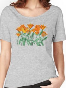 Vibrant Orange Tulips Women's Relaxed Fit T-Shirt