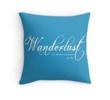 Wanderlust (White) Throw Pillow