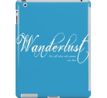 Wanderlust (White) iPad Case/Skin