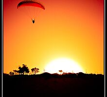 Sunset gliding by TedVanderloo