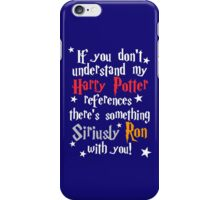 Harry Potter references - dark background iPhone Case/Skin